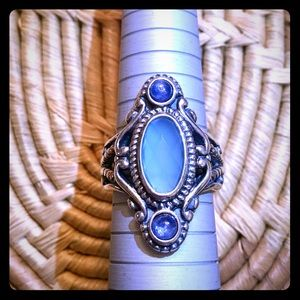 Southwest Sterling and Gemstone Ring